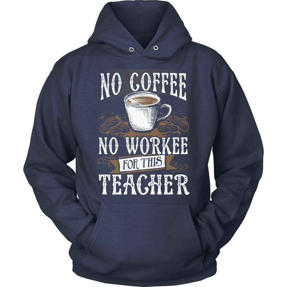 Teacher T-Shirt Design - No Coffee No Workee!