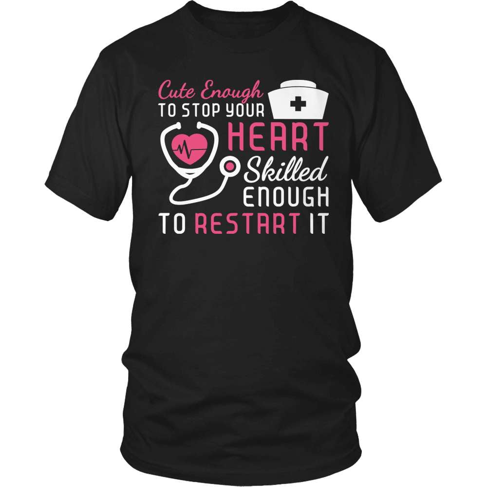 Nurse T-Shirt Design - Cute Enough
