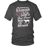 Boxer T-Shirt Design - Diamond Boxer