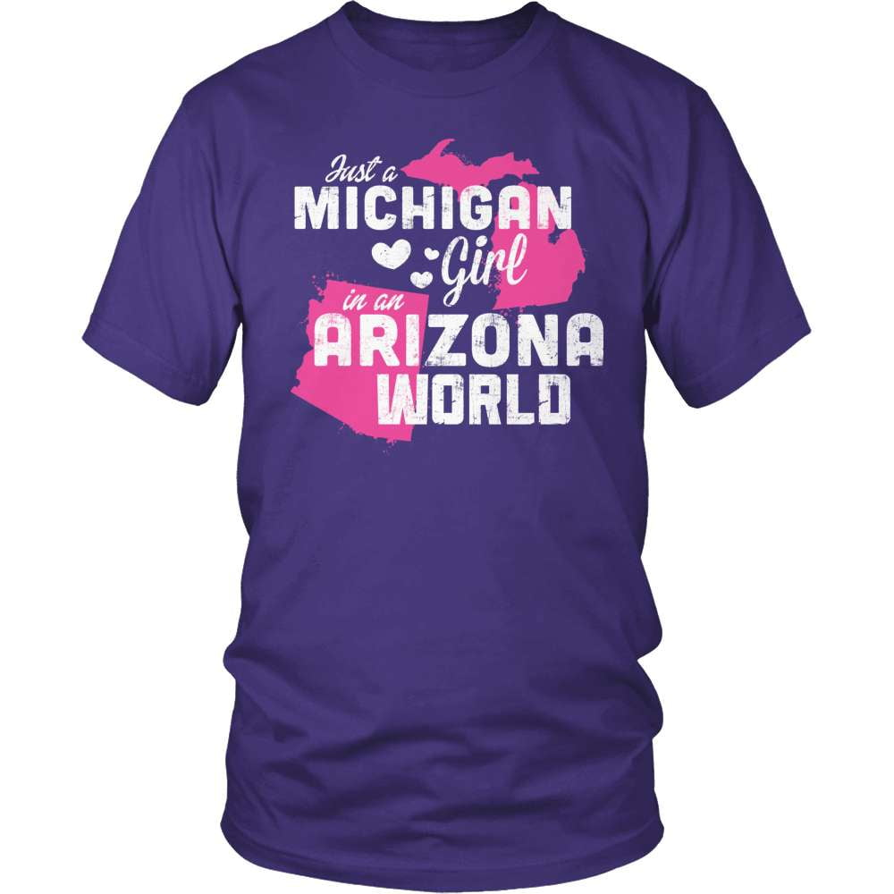 Michigan T-Shirt Design - Michigan Girl Arizona World
