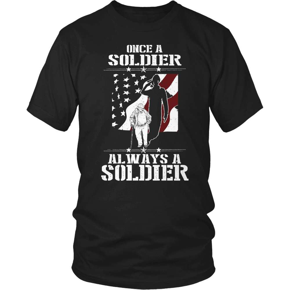 Veteran T-Shirt Design - Once A Soldier