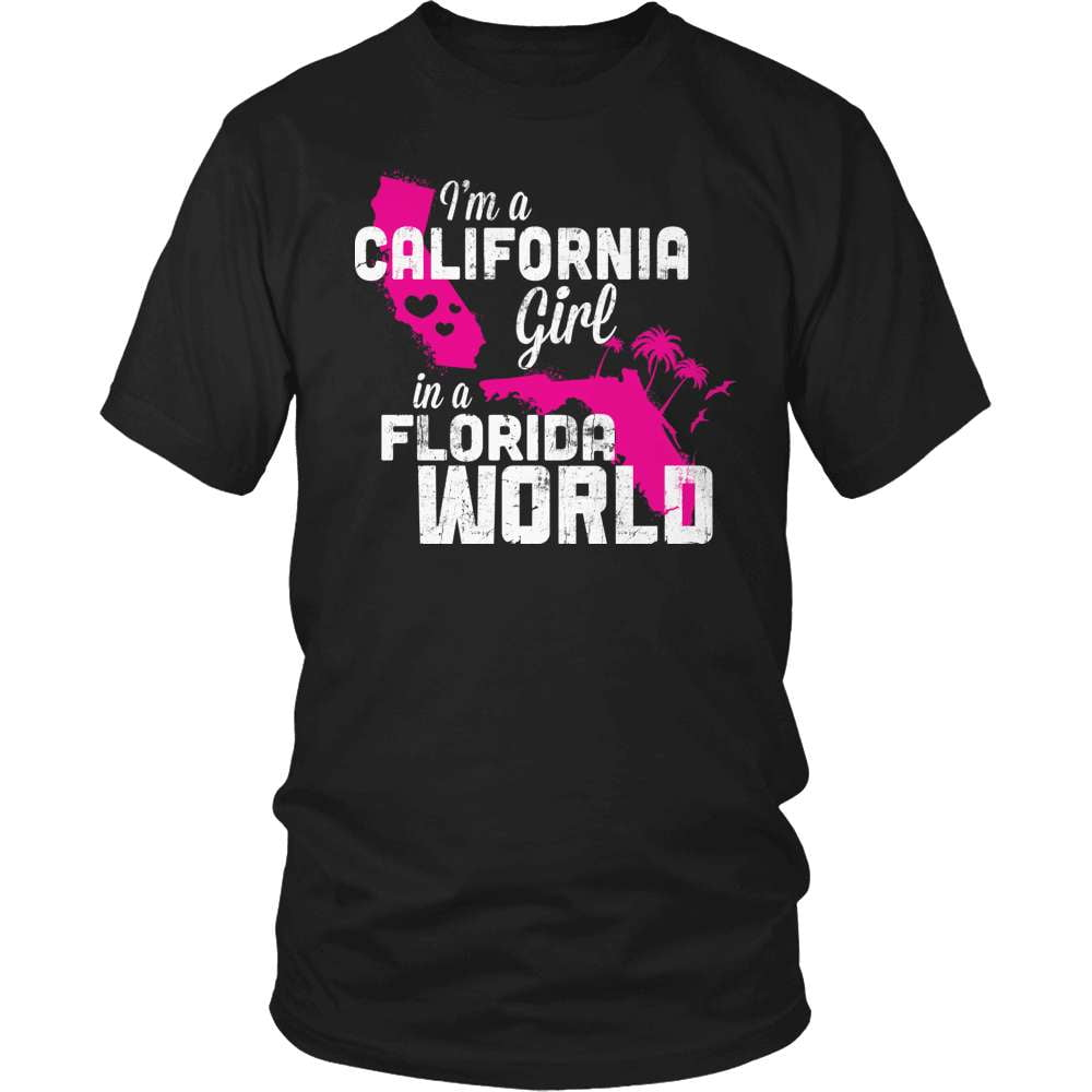 California T-Shirt Design - California Girl Florida World