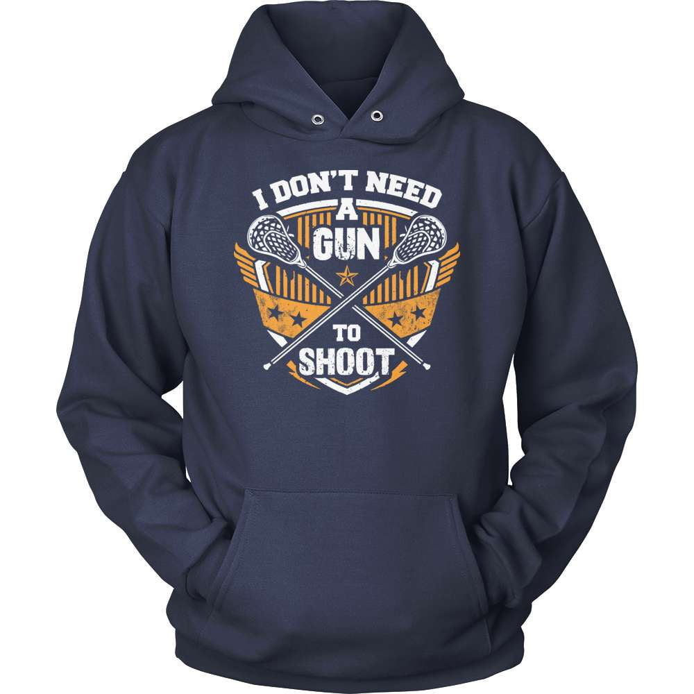 Lacrosse T-Shirt Design - I Don't Need A Gun