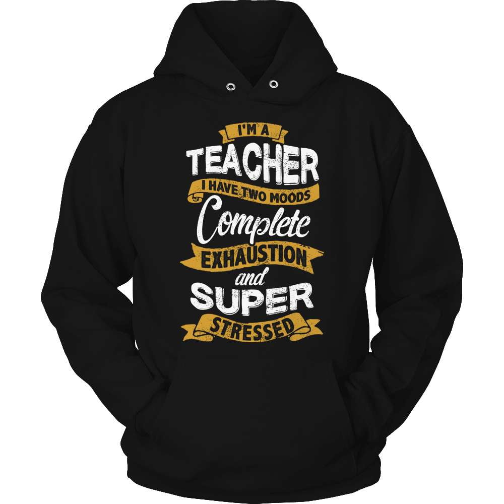 Teacher T-Shirt Design - Two Moods - snazzyshirtz.com