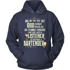 Bartender Shirt - And On The 8th Day... - snazzyshirtz.com