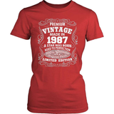 Birthday T-Shirt - Premium - 1987
