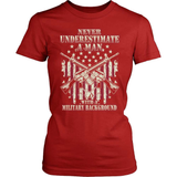 Veteran T-Shirt Design - Never Underestimate A Vet