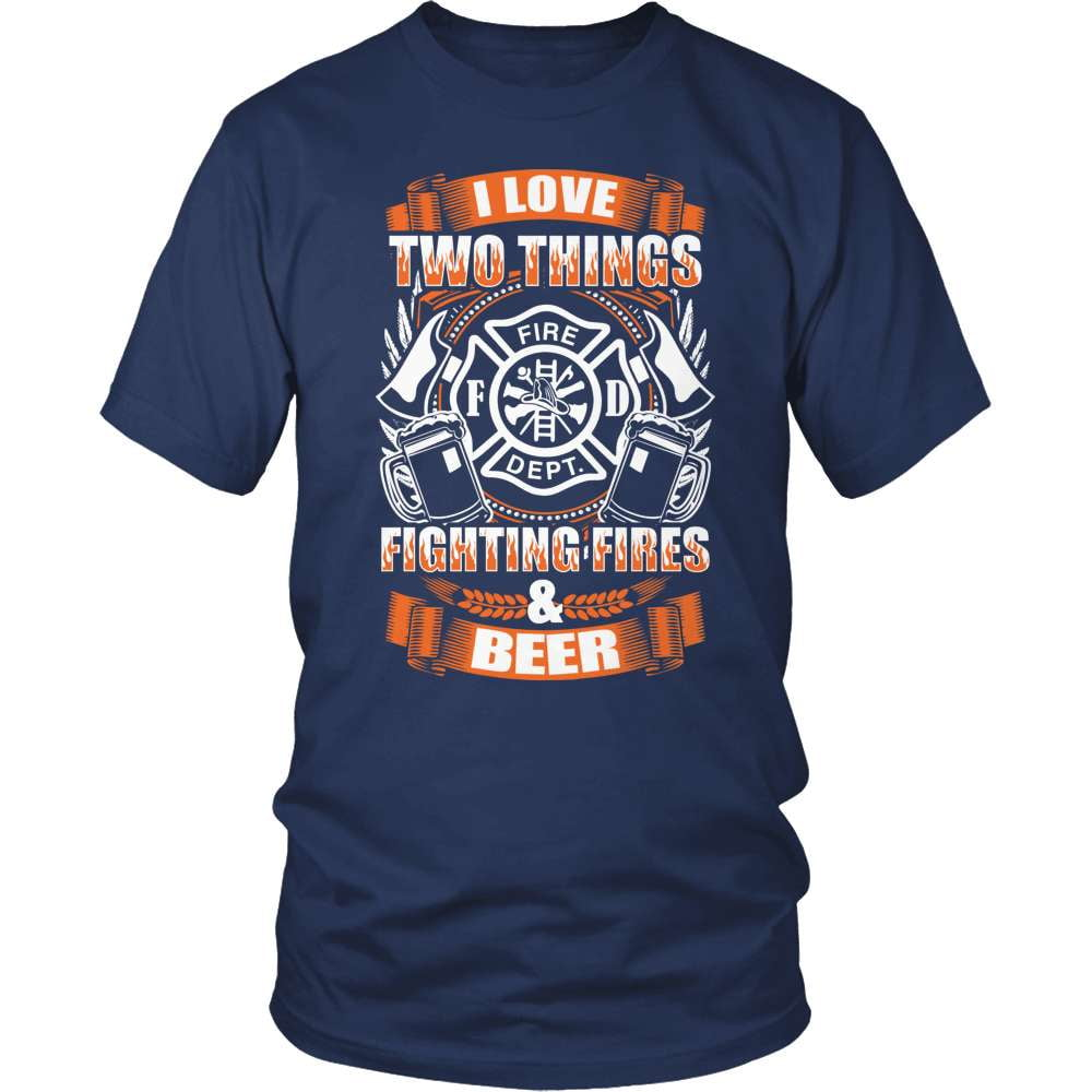 Firefighter T-Shirt Design - Fire And Beer