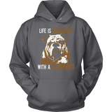 Bulldog T-Shirt Design - Life Is Better