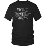 Birthday T-Shirt Design - Vintage - 1981