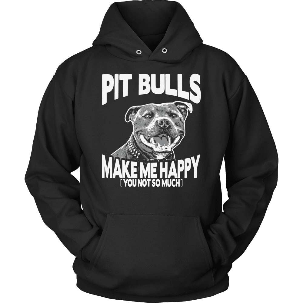Pit Bull T-Shirt Design - Make Me Happy - snazzyshirtz.com
