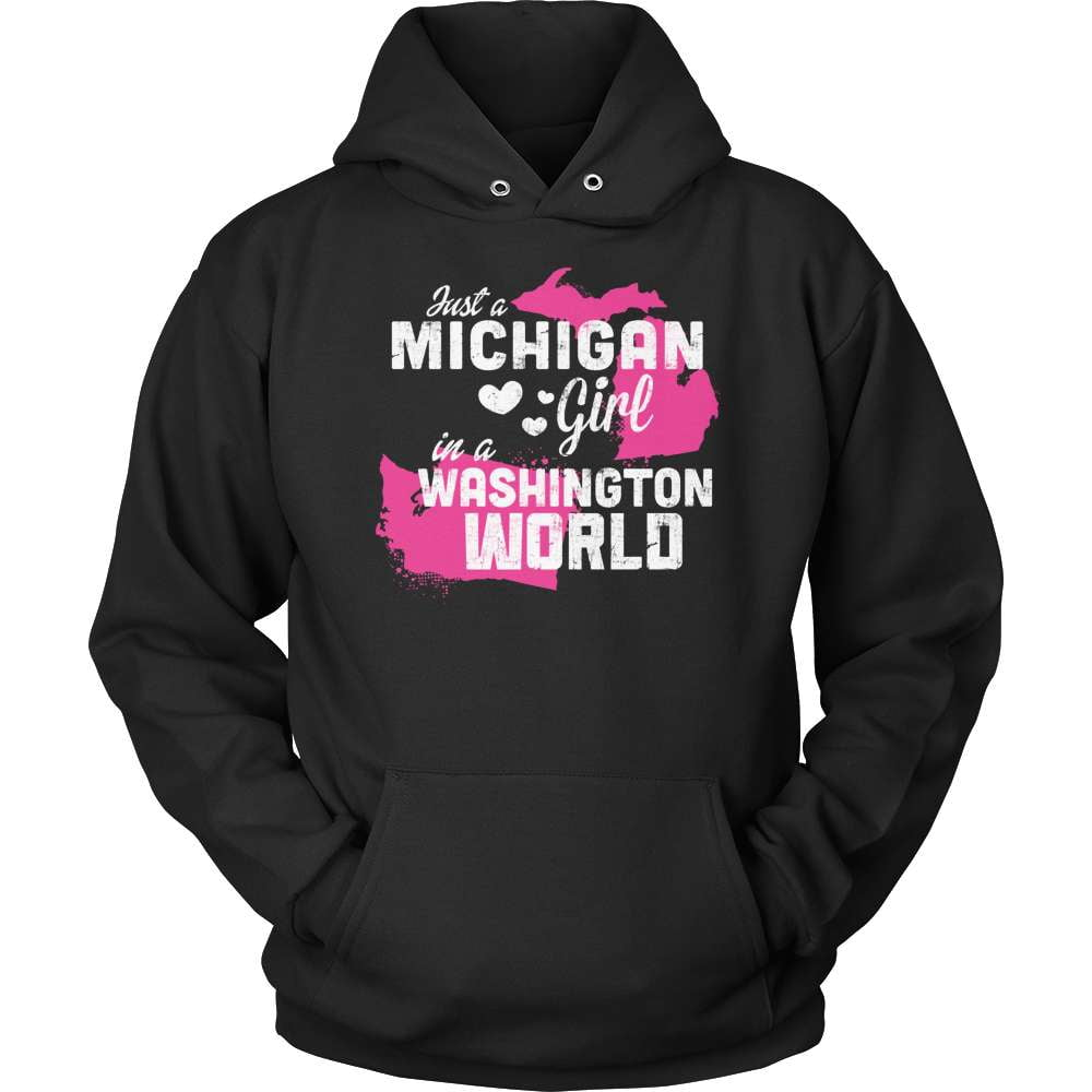 Michigan T-Shirt Design - Michigan Girl Washington World - snazzyshirtz.com