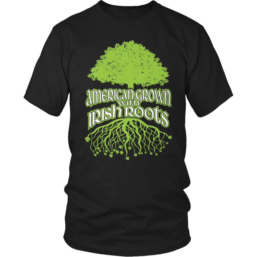 Irish T-Shirt Design - American Grown With Irish Roots