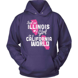 Illinois T-Shirt Design - Illinois Girl California World