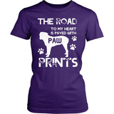 Boxer T-Shirt Design - Paw Prints