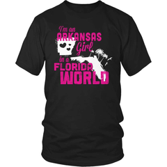 Arkansas Shirt - Arkansas Girl Florida World - snazzyshirtz.com