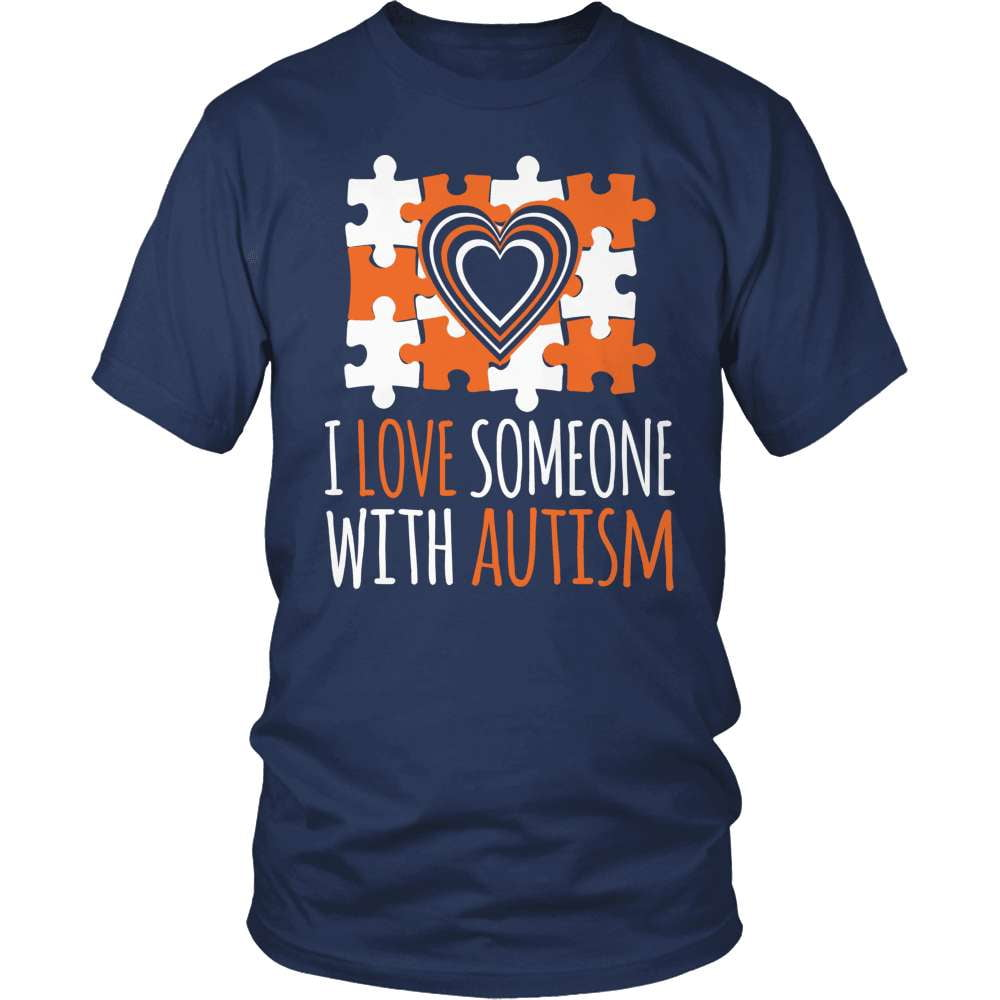 Autism T-Shirt Design - I Love Someone With Autism