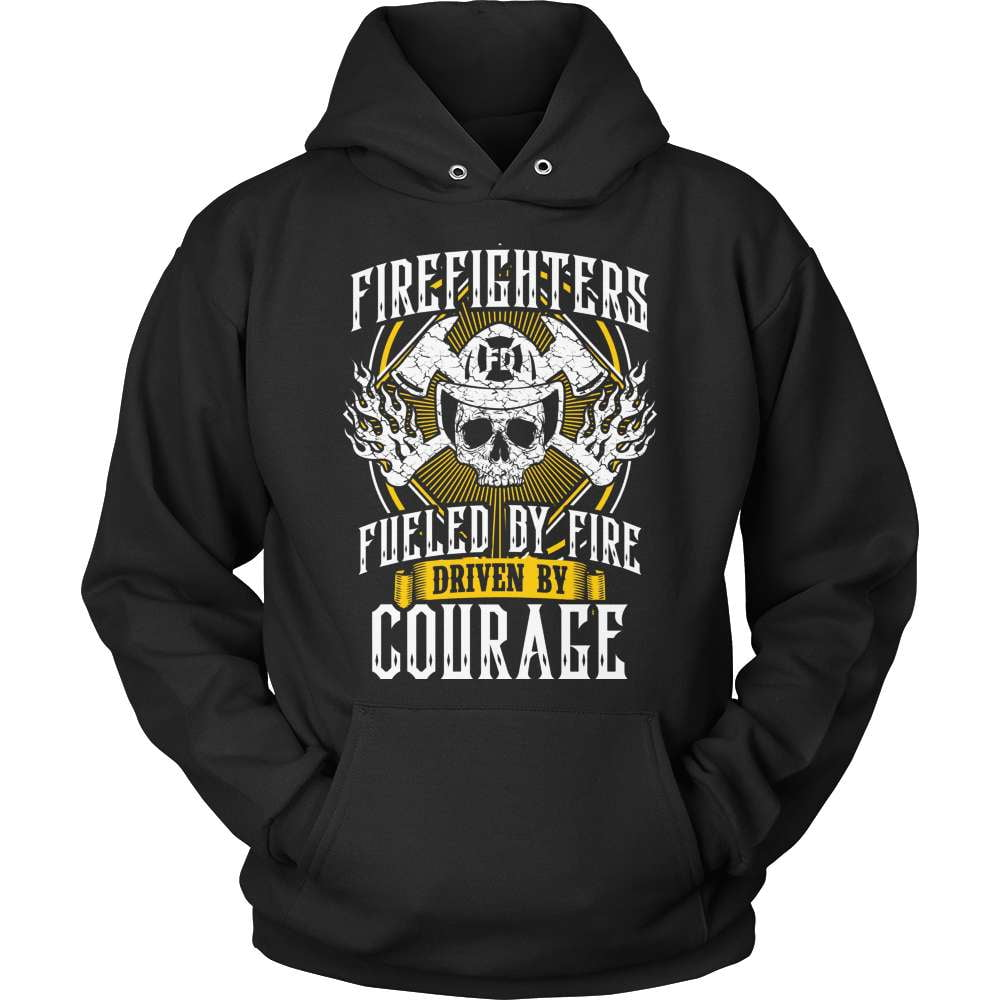 Firefighter T-Shirt Design - Driven By Courage - snazzyshirtz.com