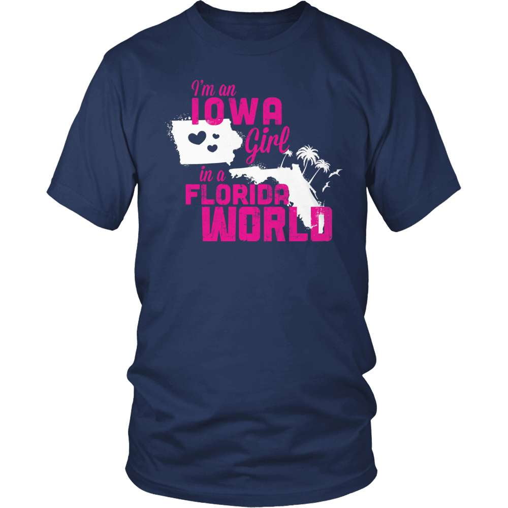 Iowa T-Shirt Design - Iowa Girl Florida World