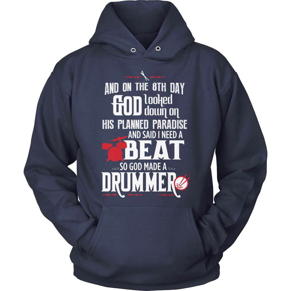 Drummer T-Shirt Design - And On The 8th Day...