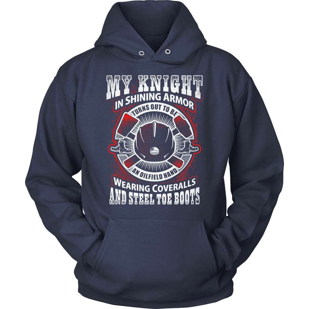 Oil Worker T-Shirt Design - Wearing Coveralls And Steel Toe Boots
