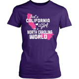 California T-Shirt Design - California Girl North Carolina World