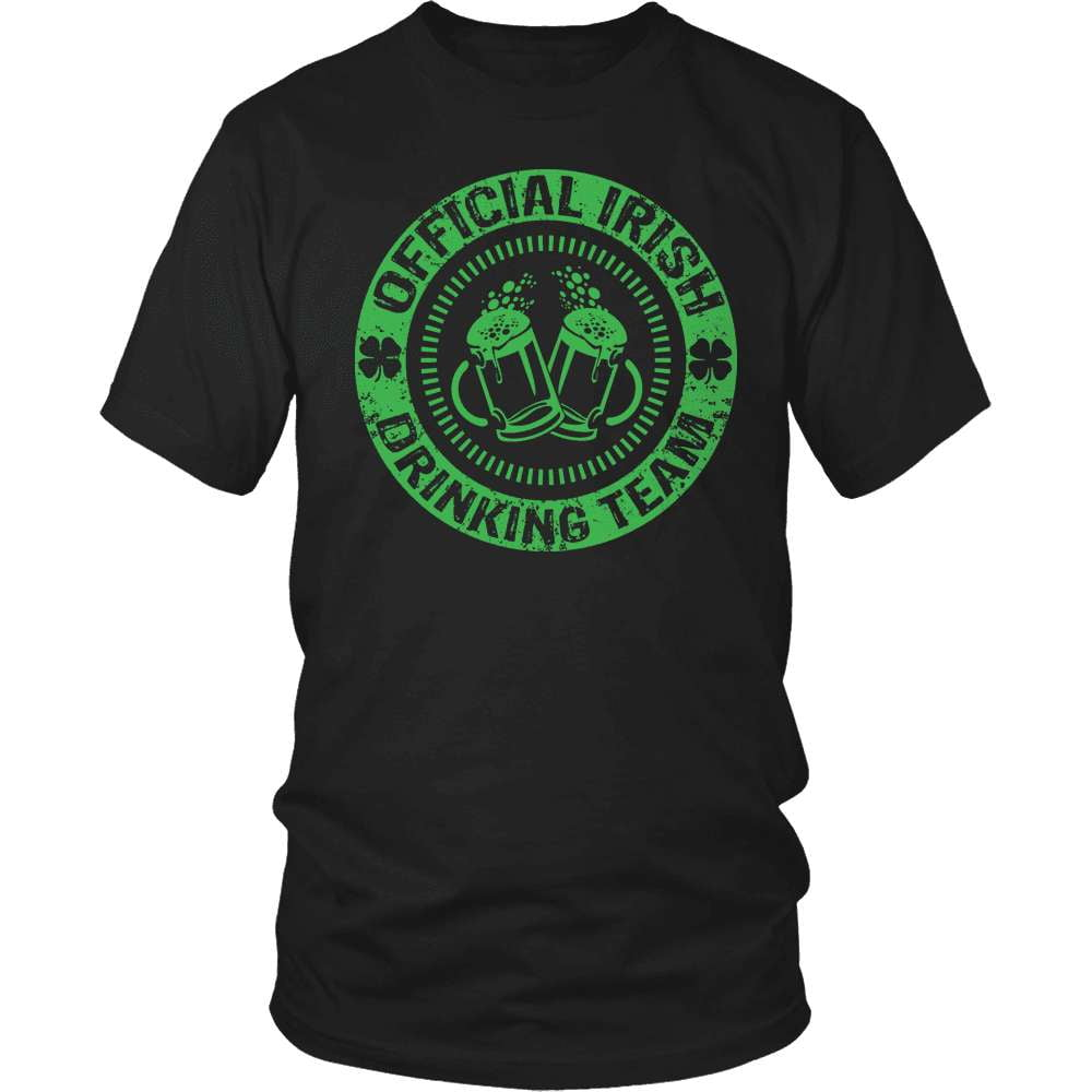 Irish T-Shirt Design - Official Irish Drinking Team