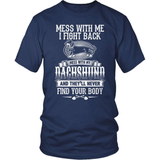 Dachshund T-Shirt Design - Don't Mess With My Dachshund