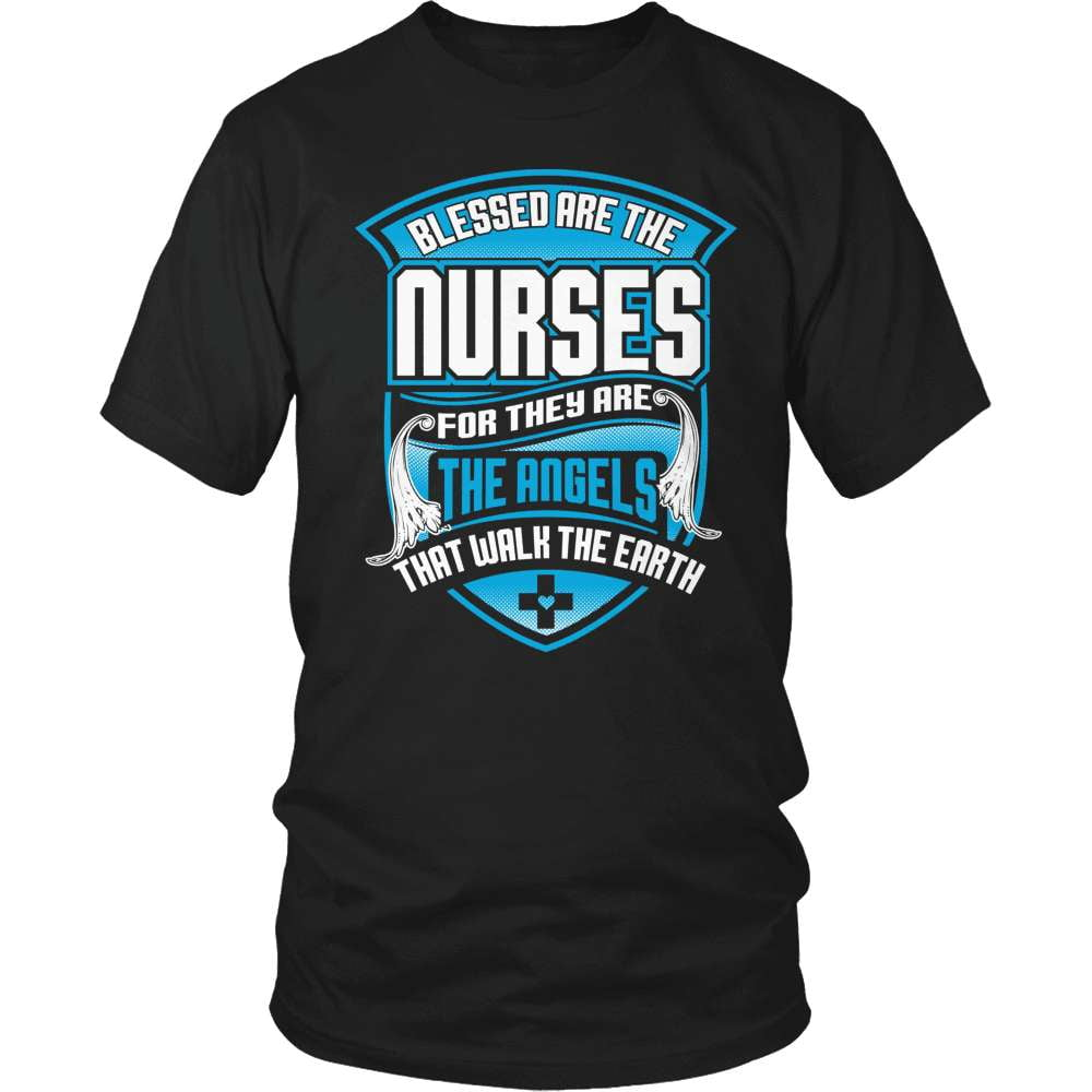 Nurse T-Shirt Design - Blessed Are The Nurses