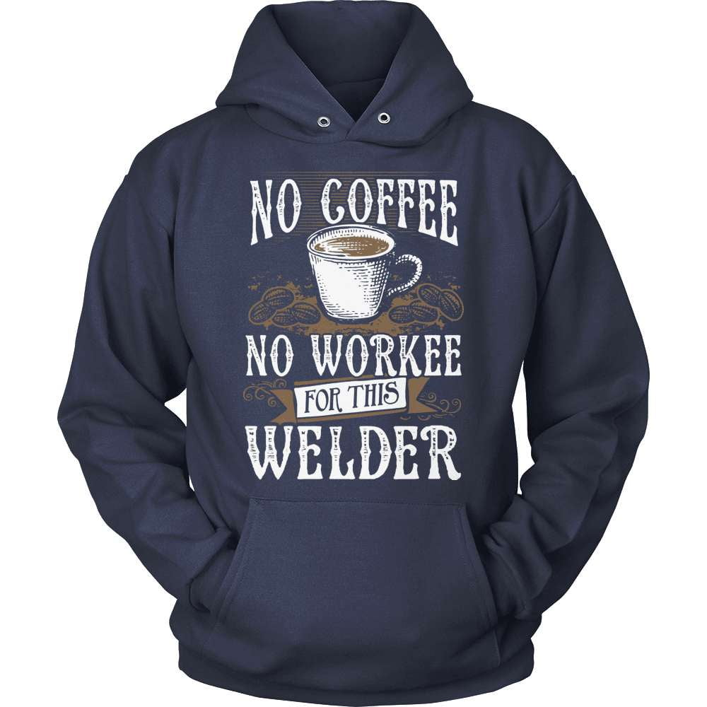 Welder T-Shirt Design - No Coffee No Workee