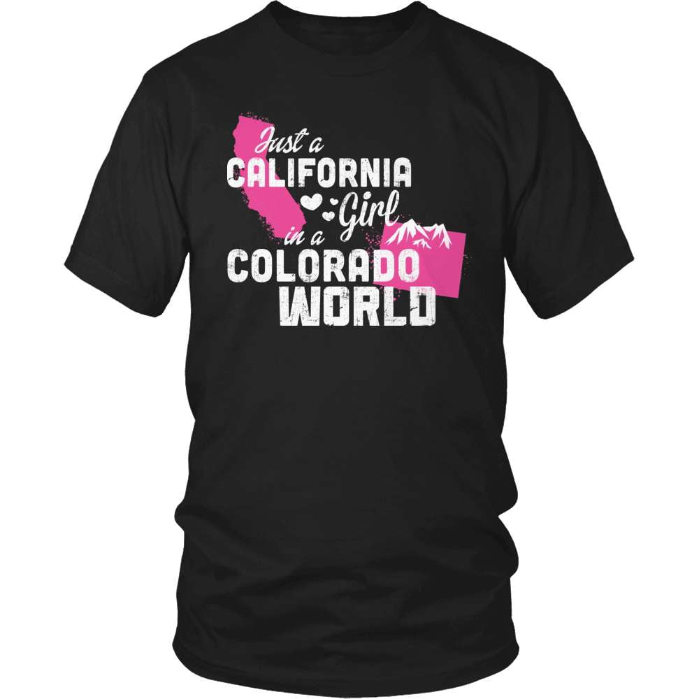 California T-Shirt Design - California Girl Colorado World