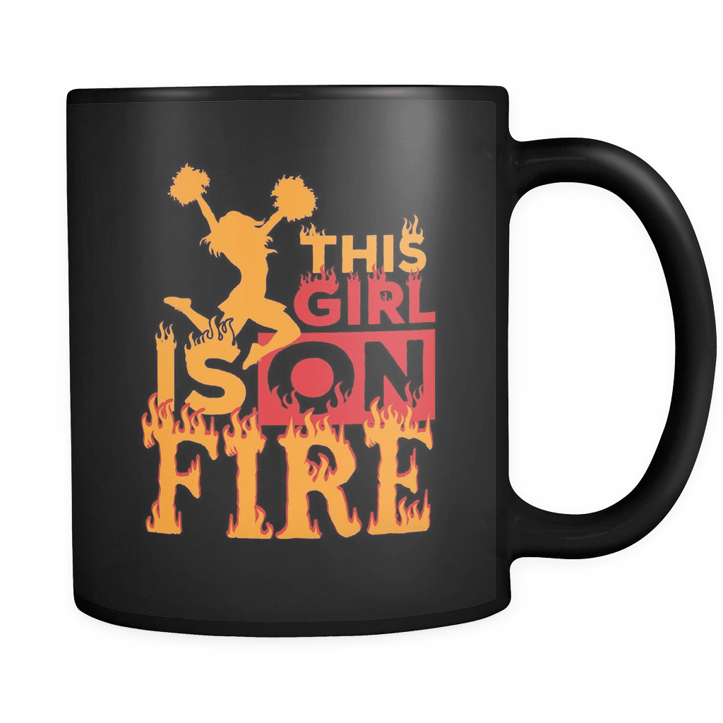 This Girl Is On Fire - Luxury Cheerleader Mug