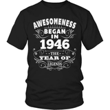 Birthday T-Shirt Design - Awesomeness - 1946