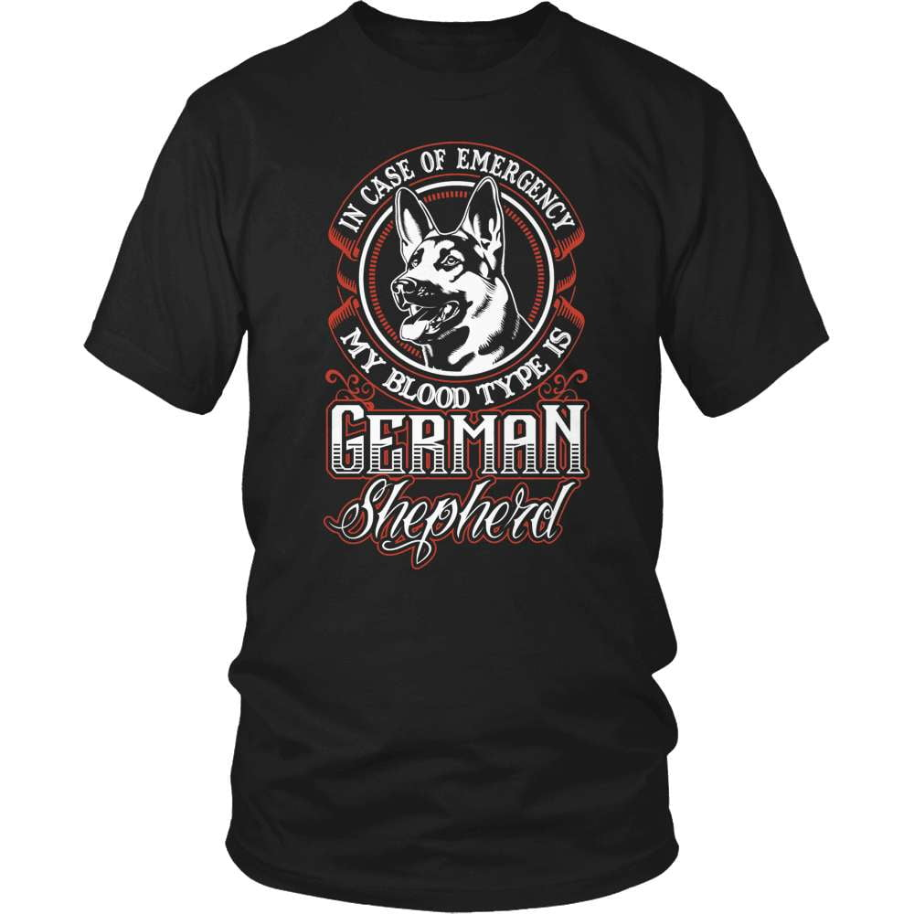 GSD T-Shirt Design - My Blood Type Is German Shepherd!