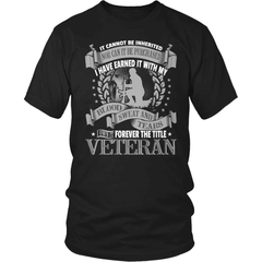 Veteran T-Shirt Design - Forever The Title - snazzyshirtz.com