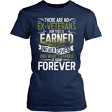 Veteran T-Shirt Design - There Are No Ex-Veterans