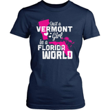 Vermont T-Shirt Design - Vermont Girl Florida World
