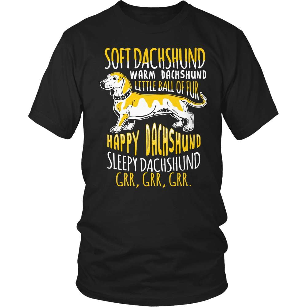 Dachshund T-Shirt Design - Little Ball Of Fur