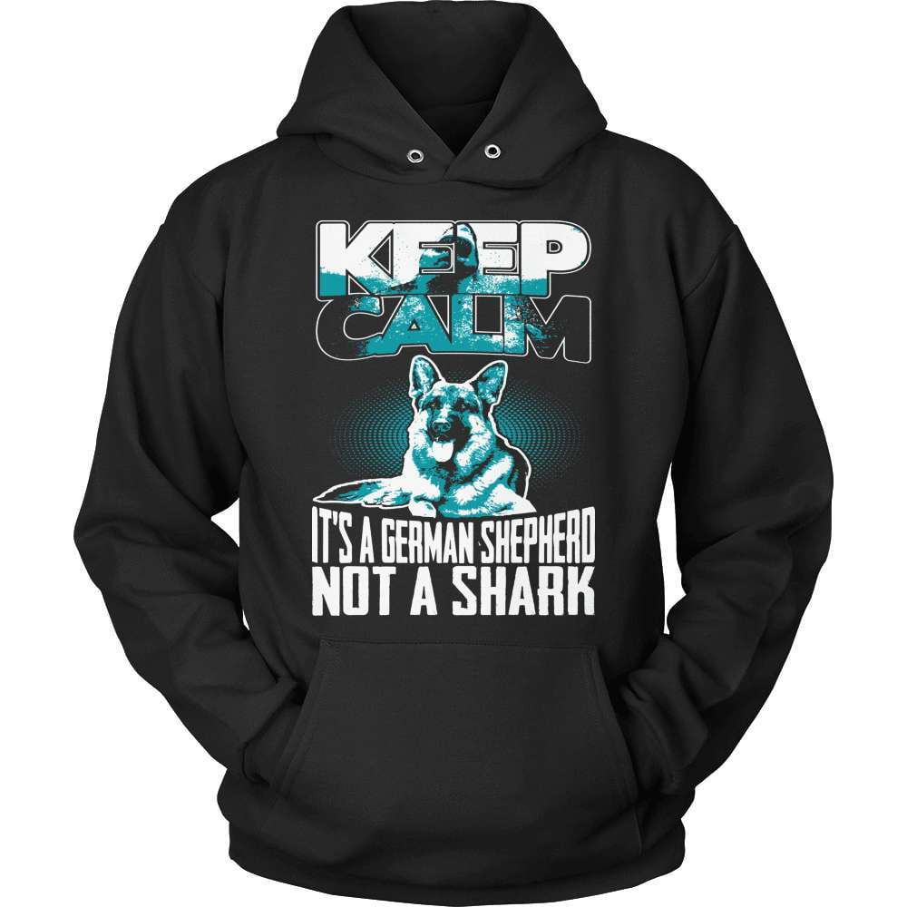 GSD T-Shirt Design - It's A German Shep Not A Shark!