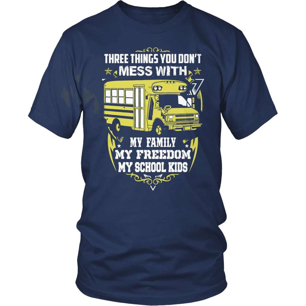 School Bus Driver T-Shirt Design - Don't Mess With My School Kids!