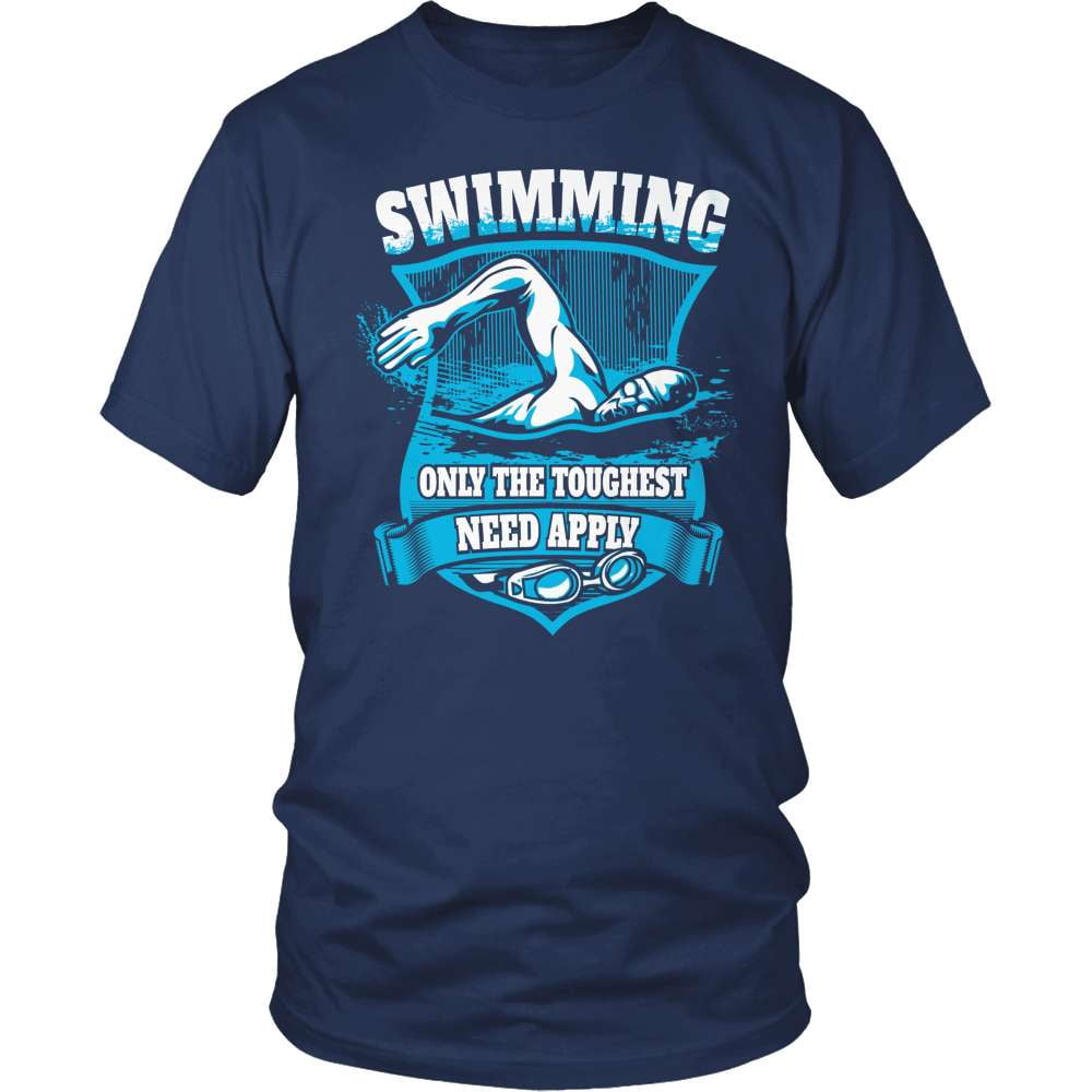 Swimming T-Shirt Design - Only The Toughest