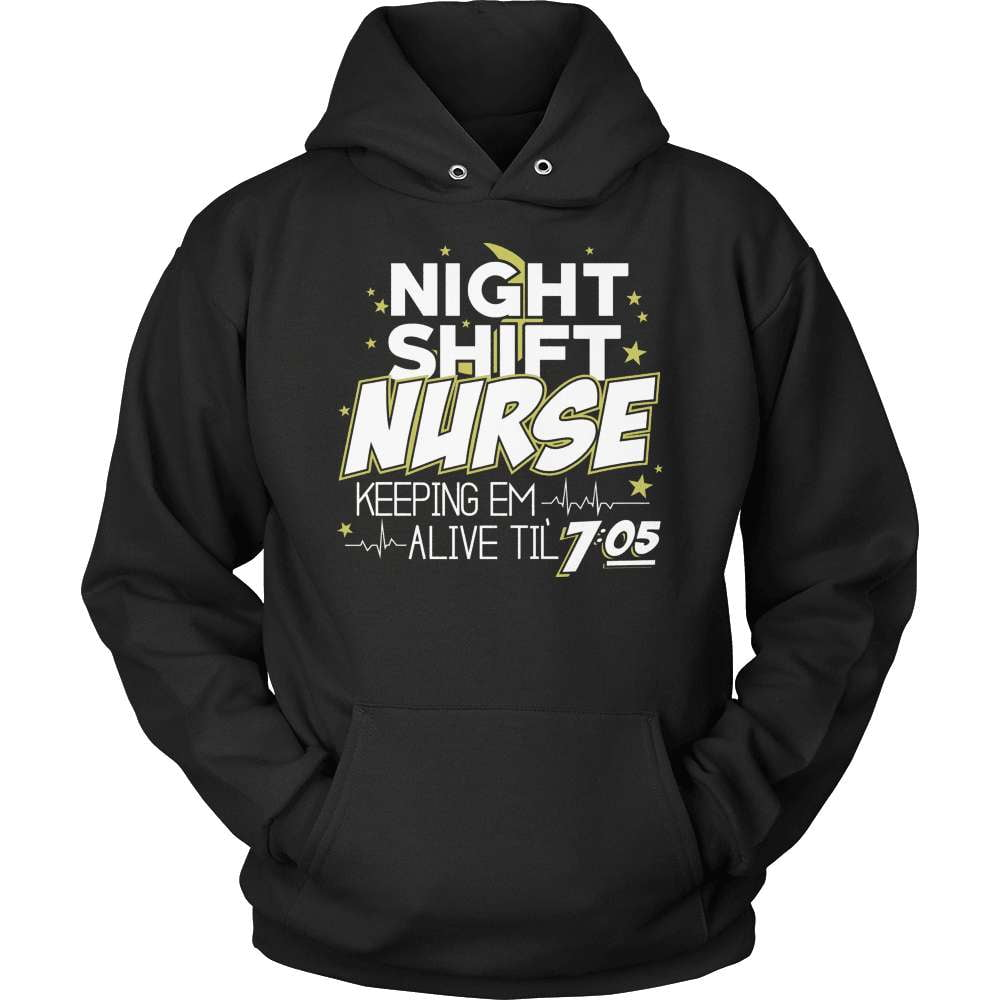 Nurse T-Shirt Design - Night Shift Nurse - snazzyshirtz.com