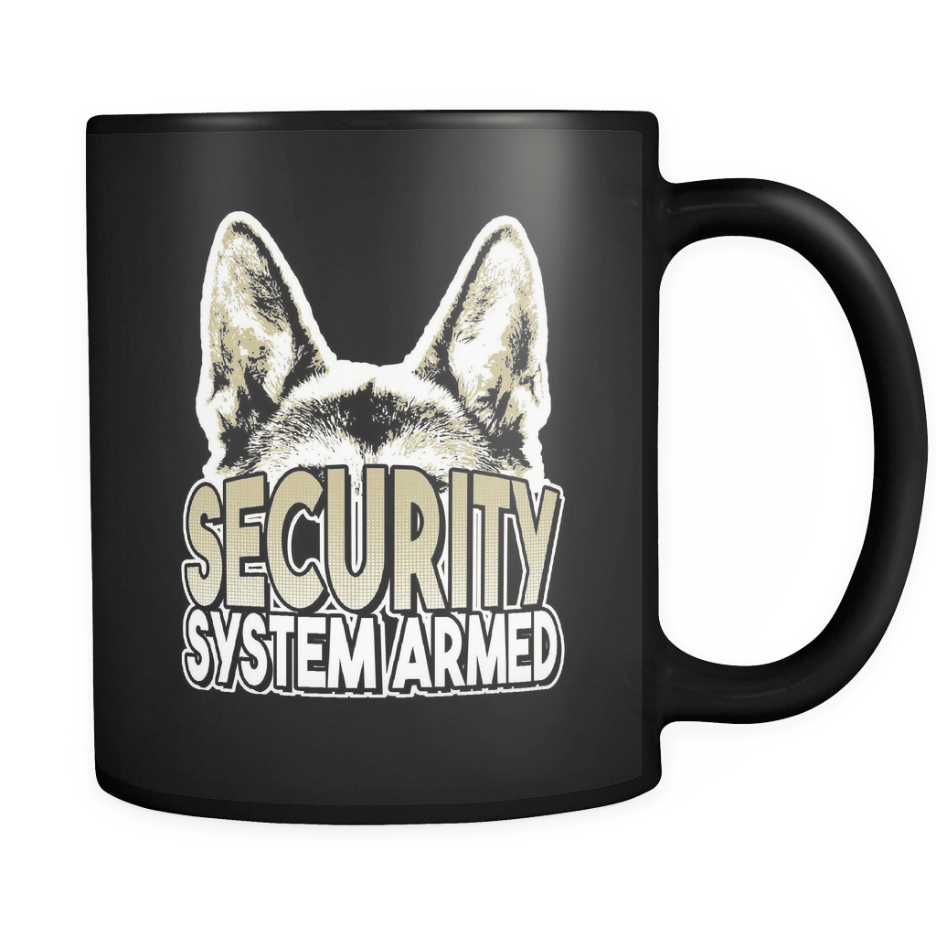 Security System Armed - Luxury German Shepherd Mug