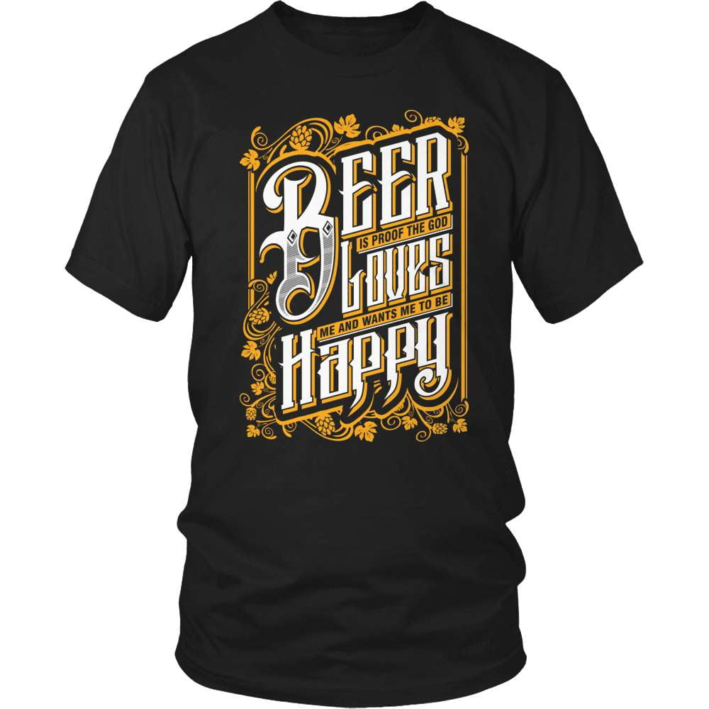Beer T-Shirt Design - God Loves Me - snazzyshirtz.com