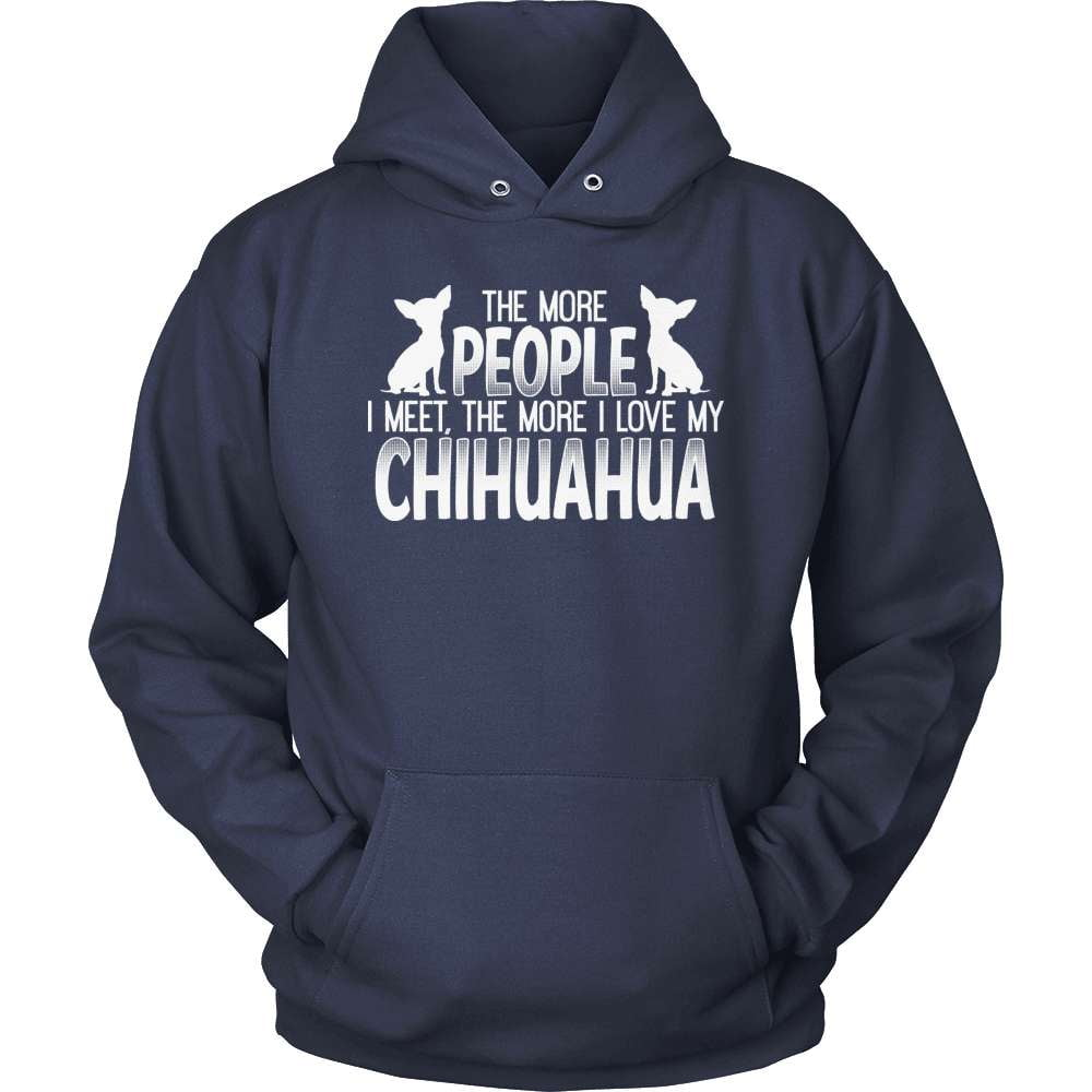 Chihuahua T-Shirt Design - The More People I Meet