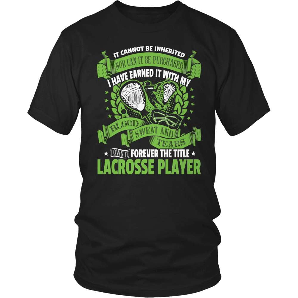 Lacrosse T-Shirt Design - I Own The Title! - snazzyshirtz.com