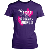 Texas T-Shirt Design - Texas Girl California World