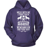 Horse T-Shirt Design - Don't Mess With My Horse