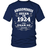 Birthday T-Shirt Design - Awesomeness - 1924