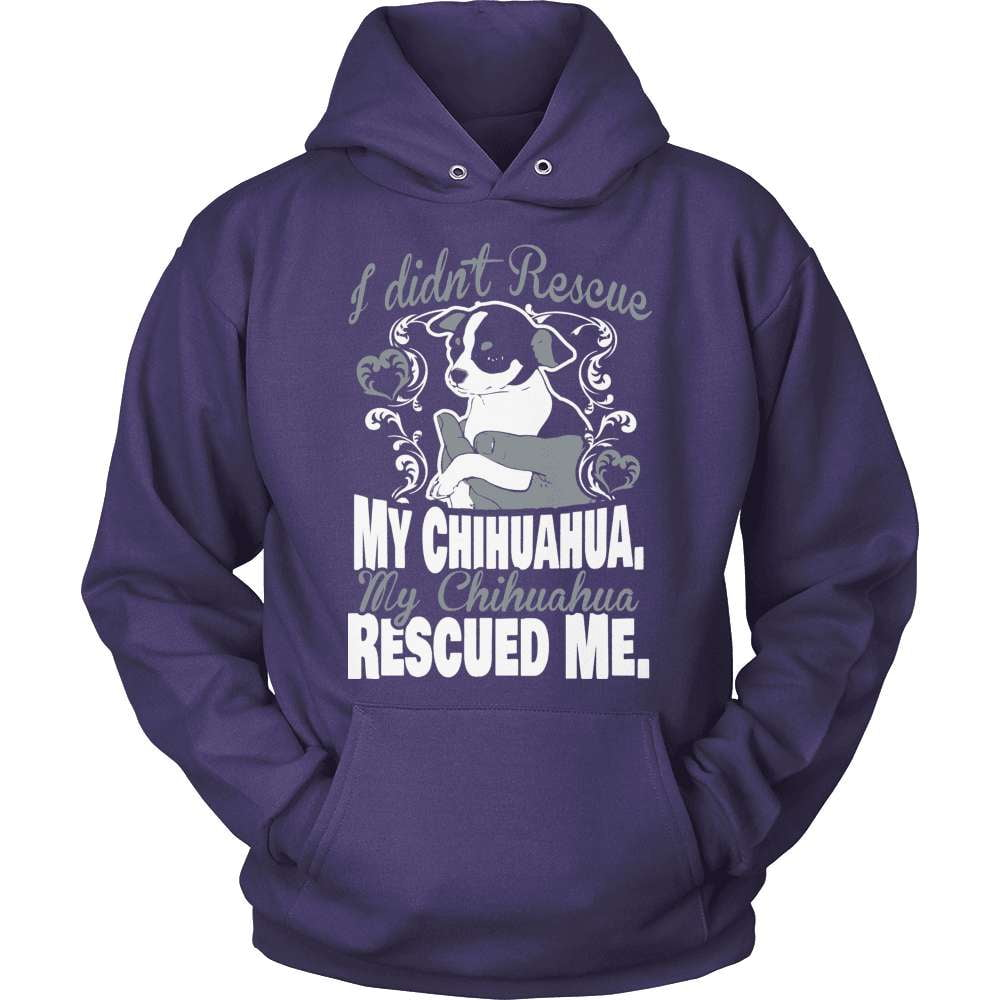 Chihuahua T-Shirt Design - My Chihuahua Rescued Me!